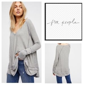 Free People Laguna Thermal top grey